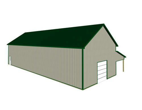 30 X 81 X 16 Agricultural With Porch At Menards Post Frame Building Menards Building Materials