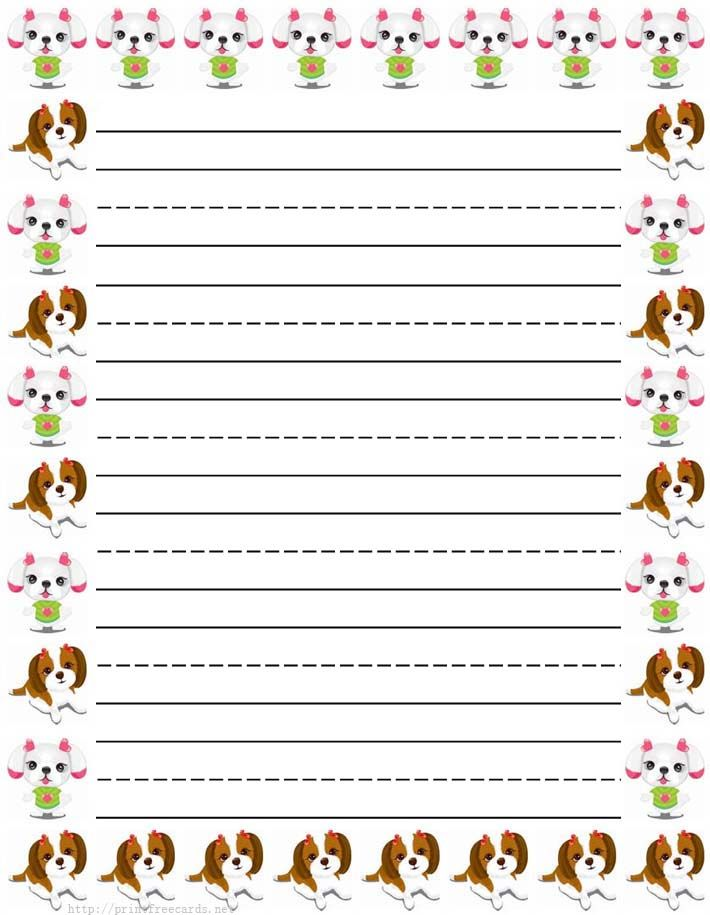 image regarding Printable Stationary for Kids identified as woman canine Cost-free printable small children stationery, cost-free printable