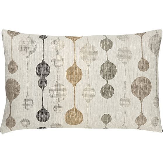 """Quincy 20""""x13"""" Ecru Pillow in Decorative Pillows   Crate and Barrel"""