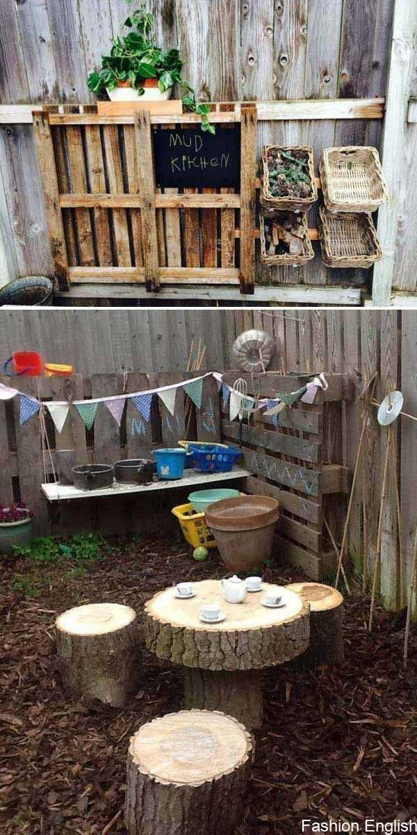 Turn the backyard into a fun and cool playroom for kids