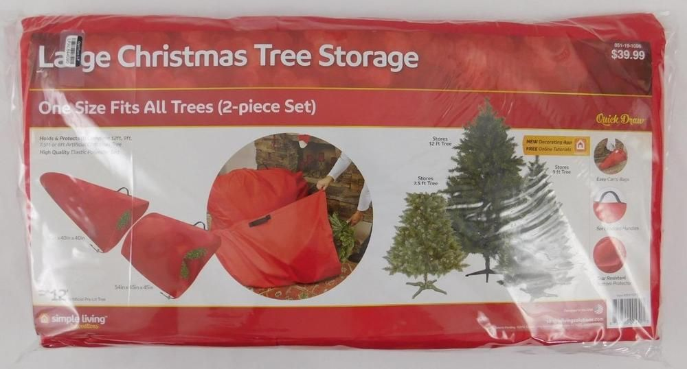 Large Christmas Tree Storage 2 Piece Set New Simple Living Holds 12 Ft Tree S Christmas Tree Storage Bag Christmas Tree Storage Large Christmas Tree