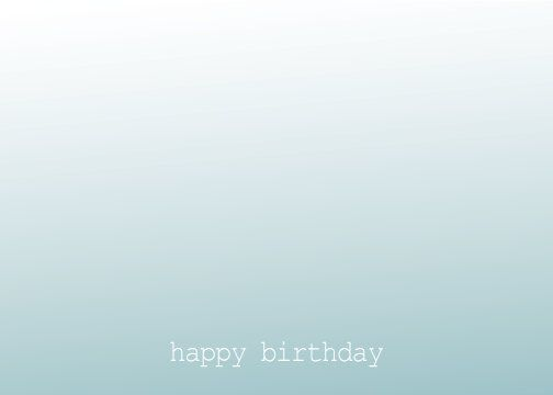 Custom #ombre birthday/thank you #card   #BLoeschCreative