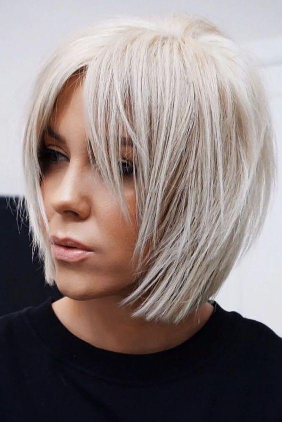 Beste 25 Bilder von kurzen glatten blonden Haaren #haare #haarschnitt #frisuren … – Welcome to Blog