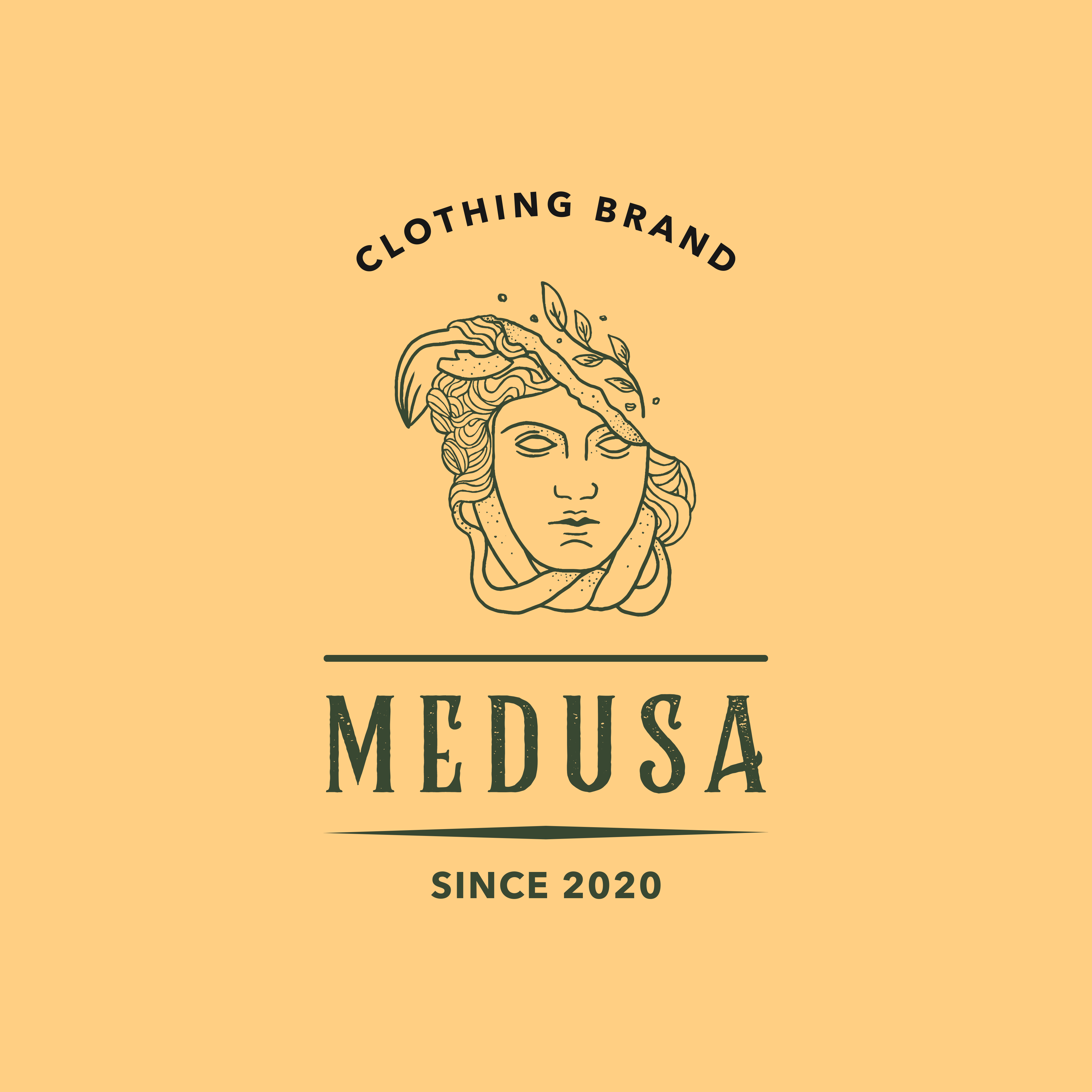 What do you think about this clothing brand logo?  #medusa #branding #ClothingBrand #Logodesign