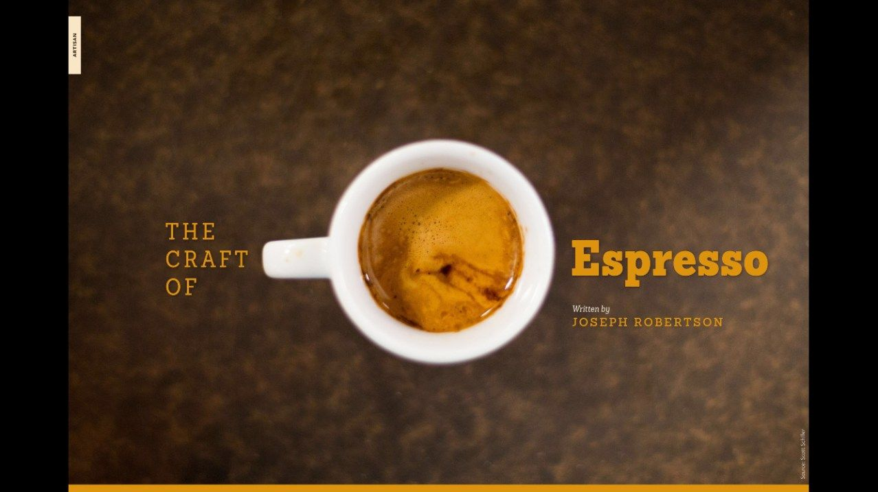 espresso - coffee magazine - joseph robertson