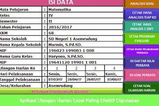 Silahkan Gunakan Aplikasi Ulangan Harian Excel Paling Efektif Ini Untuk Menyelesaikan Tugas Guru Dalam Mengelola Microsoft Excel Microsoft Word 2007 Microsoft