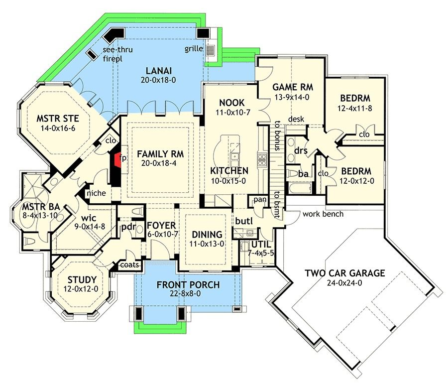 plan 16806wg or 120 165 craftsman architectural designs love the round study and master suite - Designer House Plan 120 165