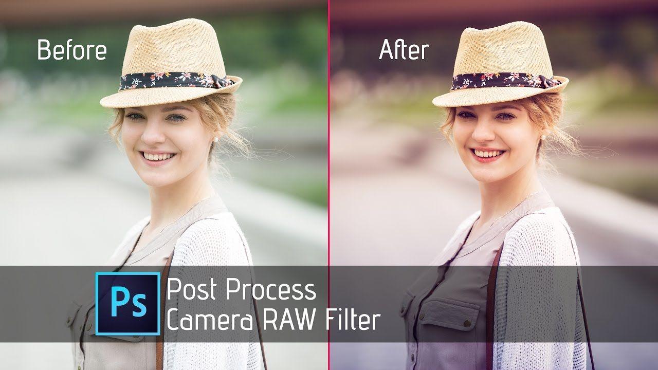 Photoshop Tutorial   Camera Raw Filter  Beautiful Girl   Post Process