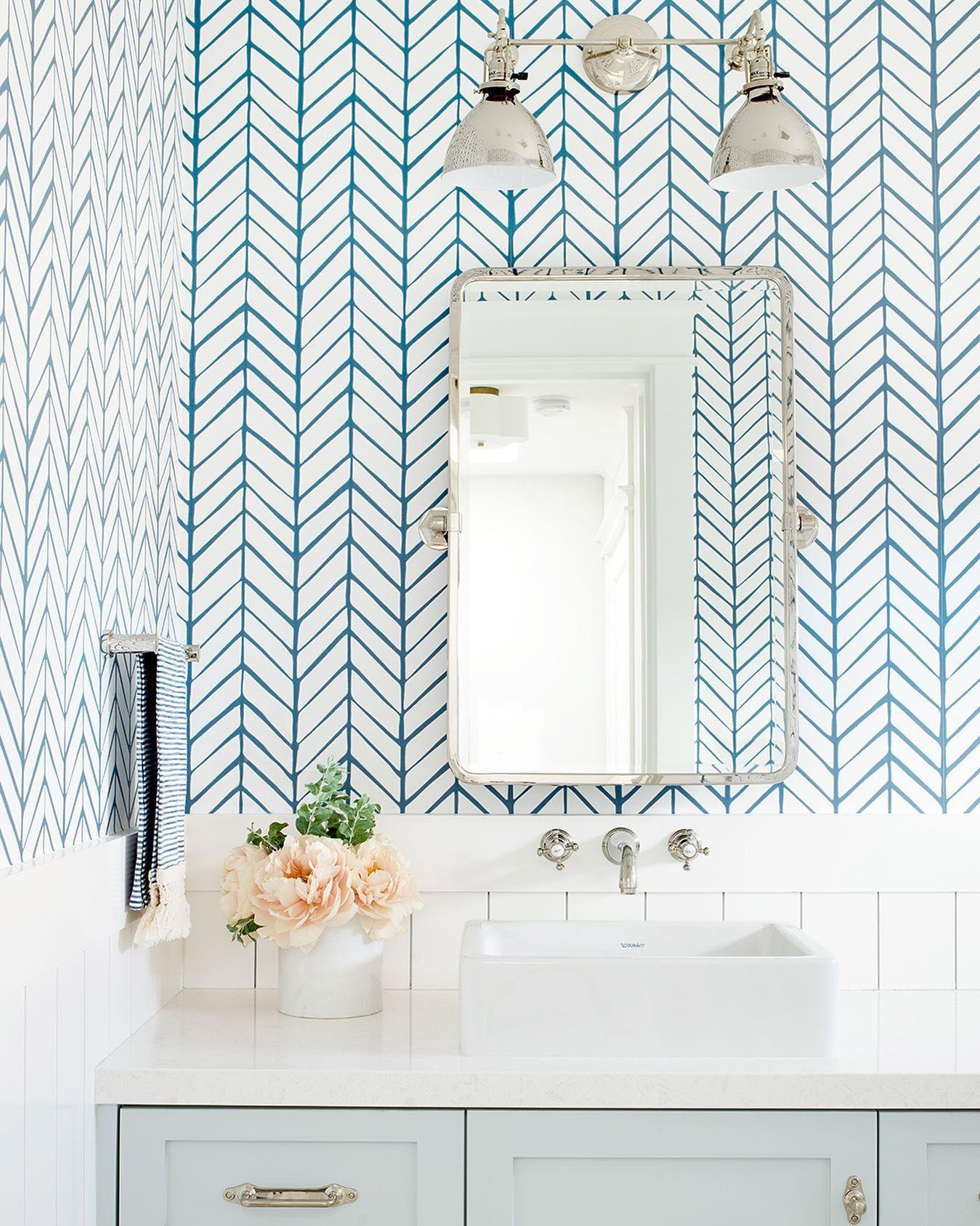 Feather Wallpaper Bathroom Wallpaper Trends Small Bathroom Decor Feather Wallpaper