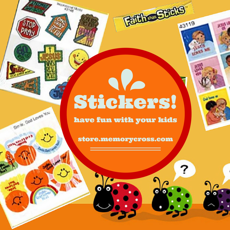 Summer Time is Family Time! Take time to bond with your kids with these crafty Christian Stickers. Order now at: http://store.memorycross.com/Faith-that-Sticks-Christian-Stickers-s/1827.htm