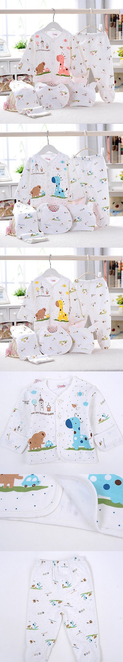 5pcs Set Newborn Baby Clothing 0 3 Month Boy Girls Cotton Cartoon