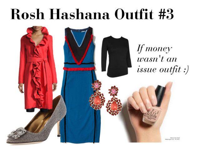 Rosh Hashana Outfit #3 by lifeinthefrumlane on Polyvore featuring polyvore, fashion, style, Manolo Blahnik, Oscar de la Renta and clothing