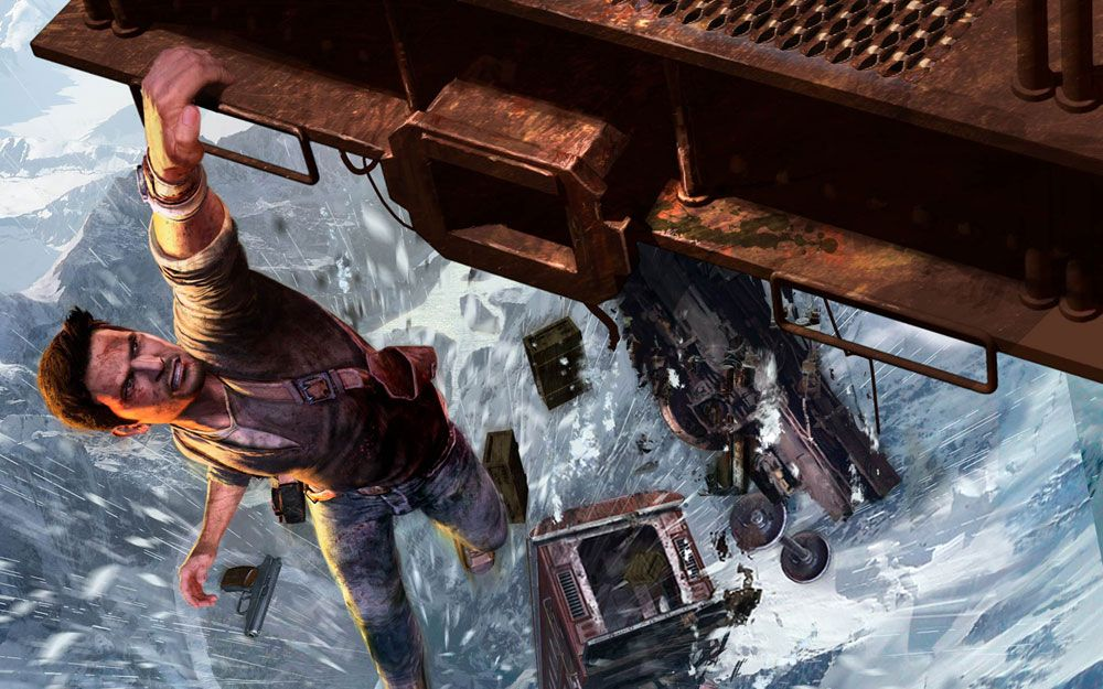 Hanging Train Pictures Characters Art Uncharted 2 Among