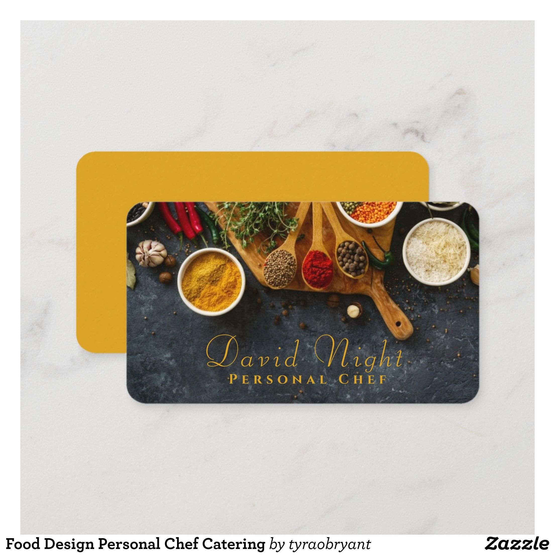 Food Design Personal Chef Catering Business Card Zazzle Com In 2021 Catering Business Cards Food Business Card Design Food Business Card