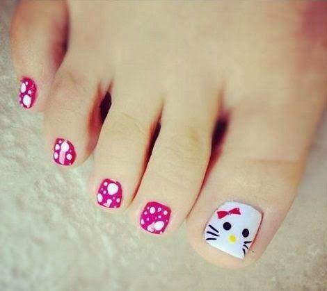 Resultado de imagen para imagenes de uñas de pie faciles y chicas las uñas  para\u2026