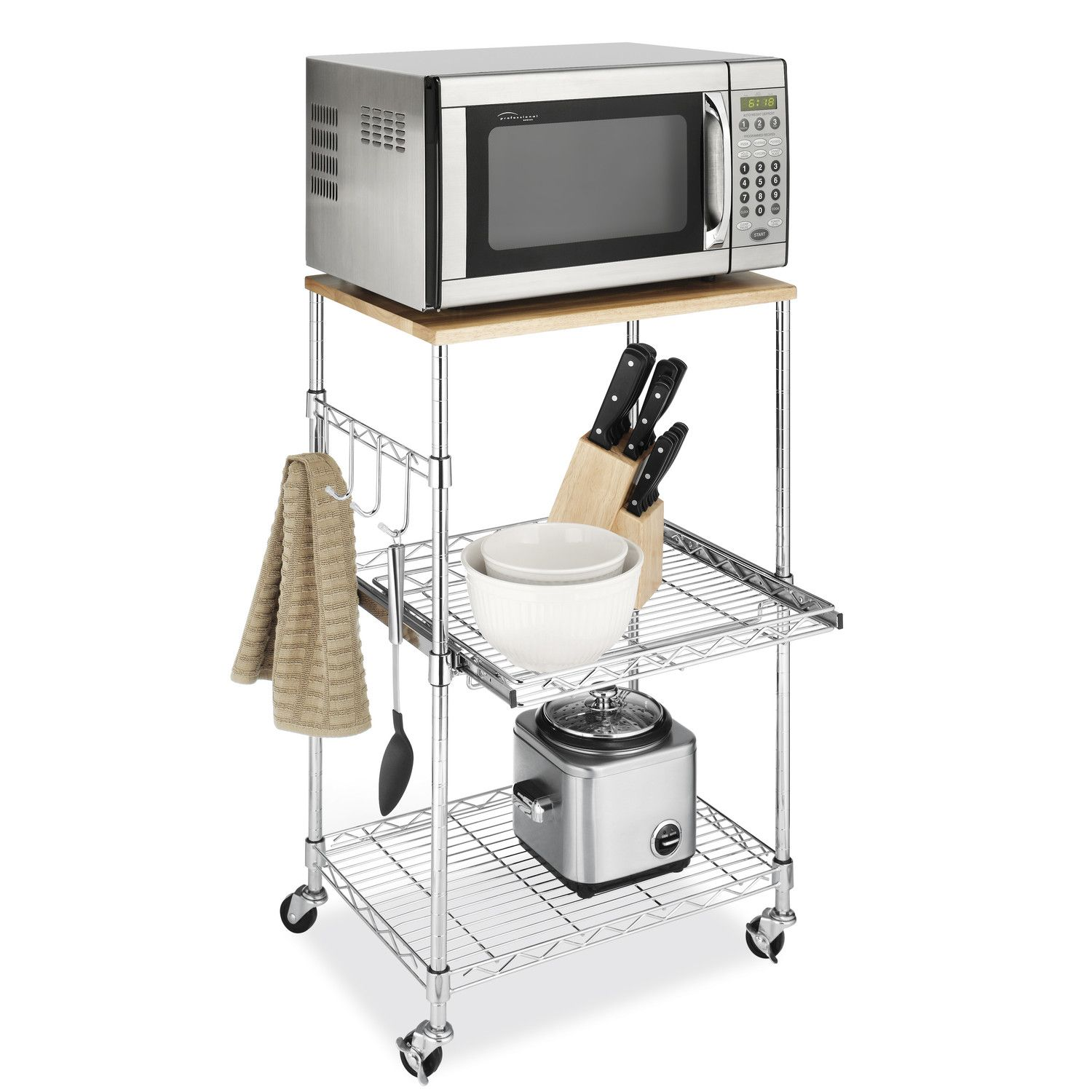 Whitmor Inc Supreme Microwave Cart