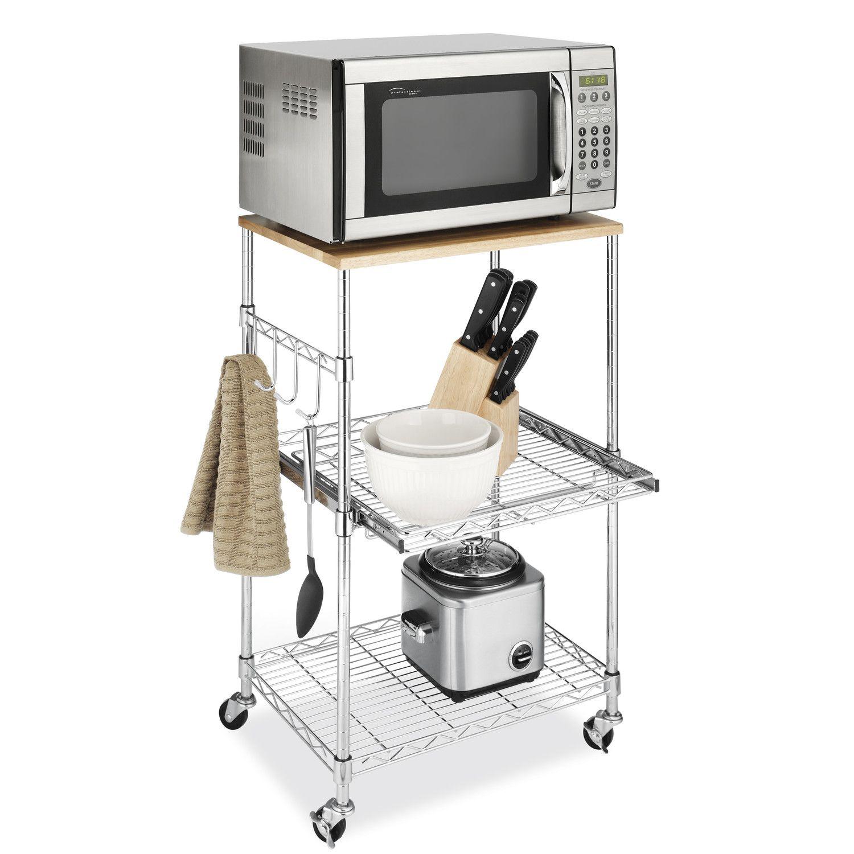 White Microwave Cart By Nexera Distribution Dc - Campfield kitchen island