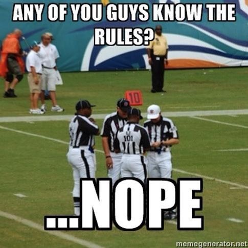 LOL Any of your guys know the rules? NOPE #FIRSTDOWNcom Ready to join the hype? We will be the judge of that. All things sports related, but mostly football. Duh! #firstdowncom #collegefootball #nfl www.firstdown.com
