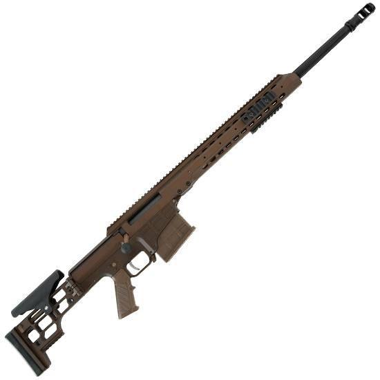 Barrett Firearms MRAD Bolt Action Rifle .308 Winchester 17 Heavy Barrel 10 Rounds Folding Stock Cerakote Multi-Role Brown