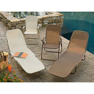 Amazing Garden Oasis Waffle Chaise Brown Normally 30 On Sale Bralicious Painted Fabric Chair Ideas Braliciousco