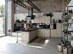 倉庫カフェ風がオシャレすぎる !海外のインダストリアルなキッチン | ONEROOM まとめ - Part 2