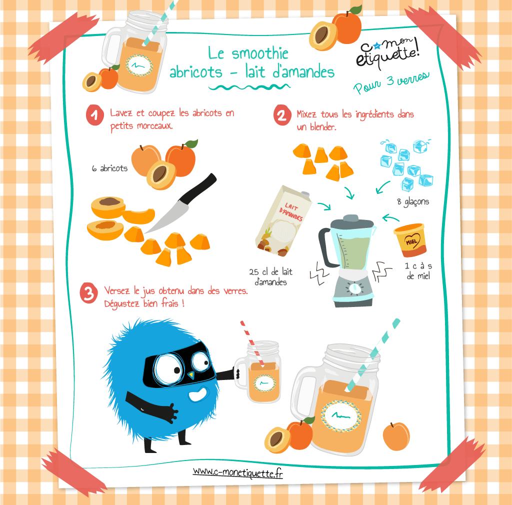 Recette smoothies abricots lait d 39 amandes recettes - Atelier de cuisine pour enfants ...