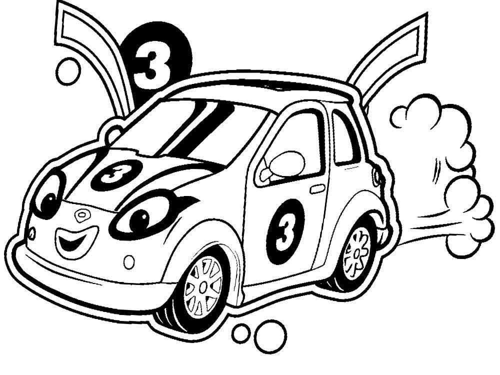 Resultado De Imagen Para Carros Animados Para Colorear Imagenes
