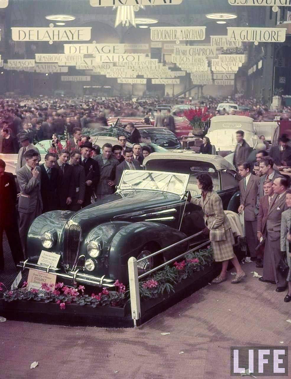 Salon De L Auto >> Salon De L Auto 1948 Au Grand Palais Art Deco Car Paris
