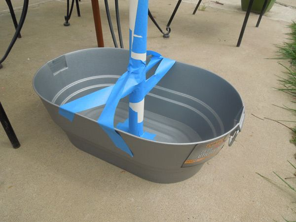 Easy Illustrated Instructions On How To Make A Concrete Patio Umbrella Stand Patio Umbrella Stand Outdoor Umbrella Stand Umbrella Stand