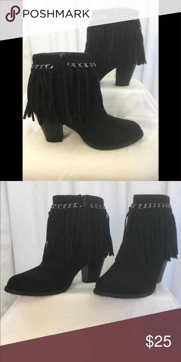 827346ab658 Pierre Dumas Black fringe booties. Size 7 1/2. Very nice pair black fringe  booties, Excellent condition size 7 1/2 Pierre Dumas Shoes Ankle Boots &  Booties