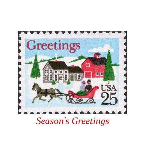 Us Postage Christmas 2021 Stamps Ten 25c Sleigh Ride Christmas Stamps Vintage Unused Us Etsy In 2021 Christmas Stamps Vintage Postage Stamps Postage Stamps Usa