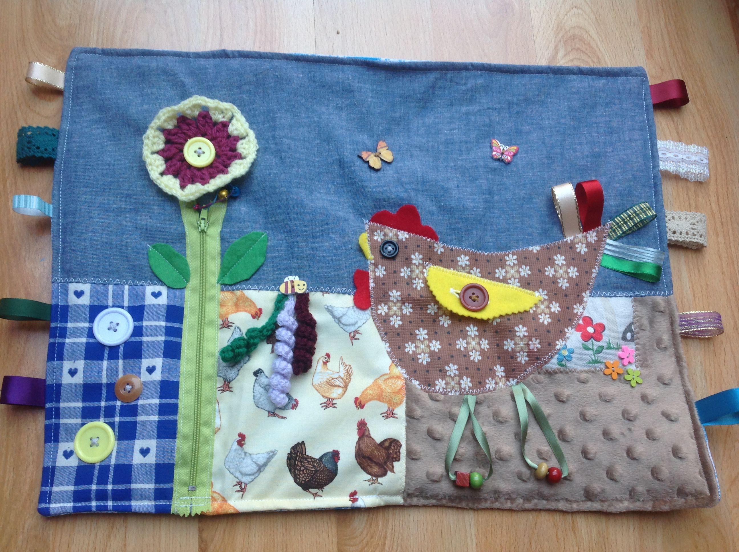 Chicken Fidget Blanket Quilt Fidget Blankets Fidget