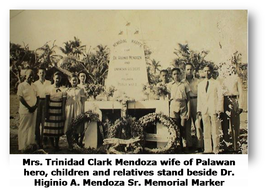 DID YOU KNOW that the remains of the valiant Dr. Higinio Acosta Mendoza Sr. are now interred in a memorial marker in Mendoza Park? It was because of his acts of bravery and heroism that this plaza was named in his honor.   Learn more about the liberation of Palawan at www.palawanliberation.com   #PalawanLiberation2015 #SaluteToValor #LostPiecesPH   Photo credit: Photo from Bart Duff