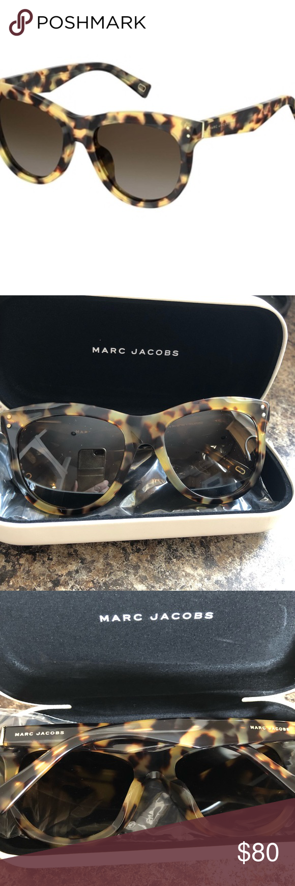 14e182a6e5ae 🌵Sale🌵NWT Marc Jacobs Sunglasses Marc Jacobs 118/S ladies sunglasses in  Havana/spotted brown. *Model shown for reference only, not available in  black.