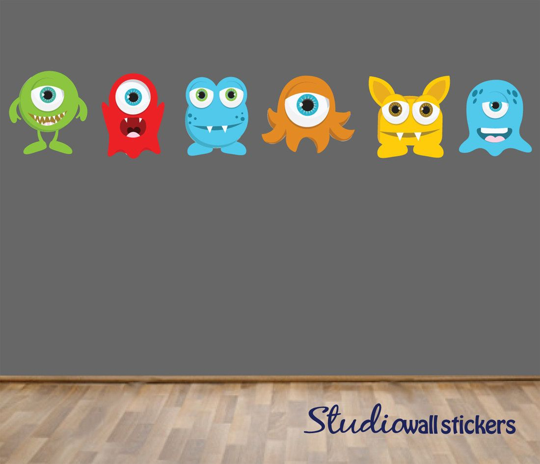 Superb REUSABLE Monsters Wall Decal   Childrens Fabric Wall Decal. $48.00, Via  Etsy. Part 6