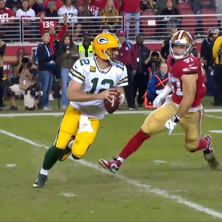 NFL aaronrodgers12 got him with the fake GBvsSF on