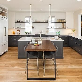 T Shaped Kitchen Breakfast Bar U Shaped Kitchen With Breakfast Bar Kitchen Design Kitchen Island Design