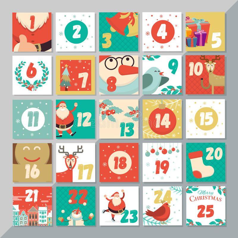 Christmas Advent Calendar Template Vector Xmas Greeting Card La Yout Design S Affiliate Gr Xmas Greeting Cards Christmas Advent Calendar Xmas Greetings