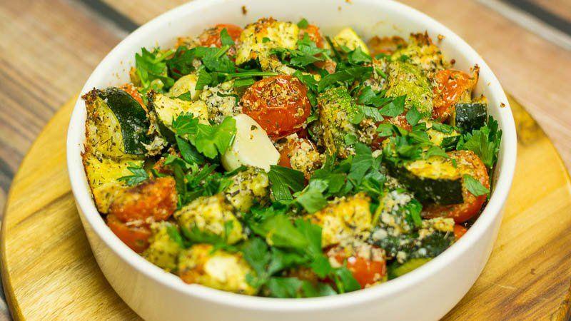 Tomates et courgettes au four à l'ail et au parmesan – Page 2 – La pensée positive