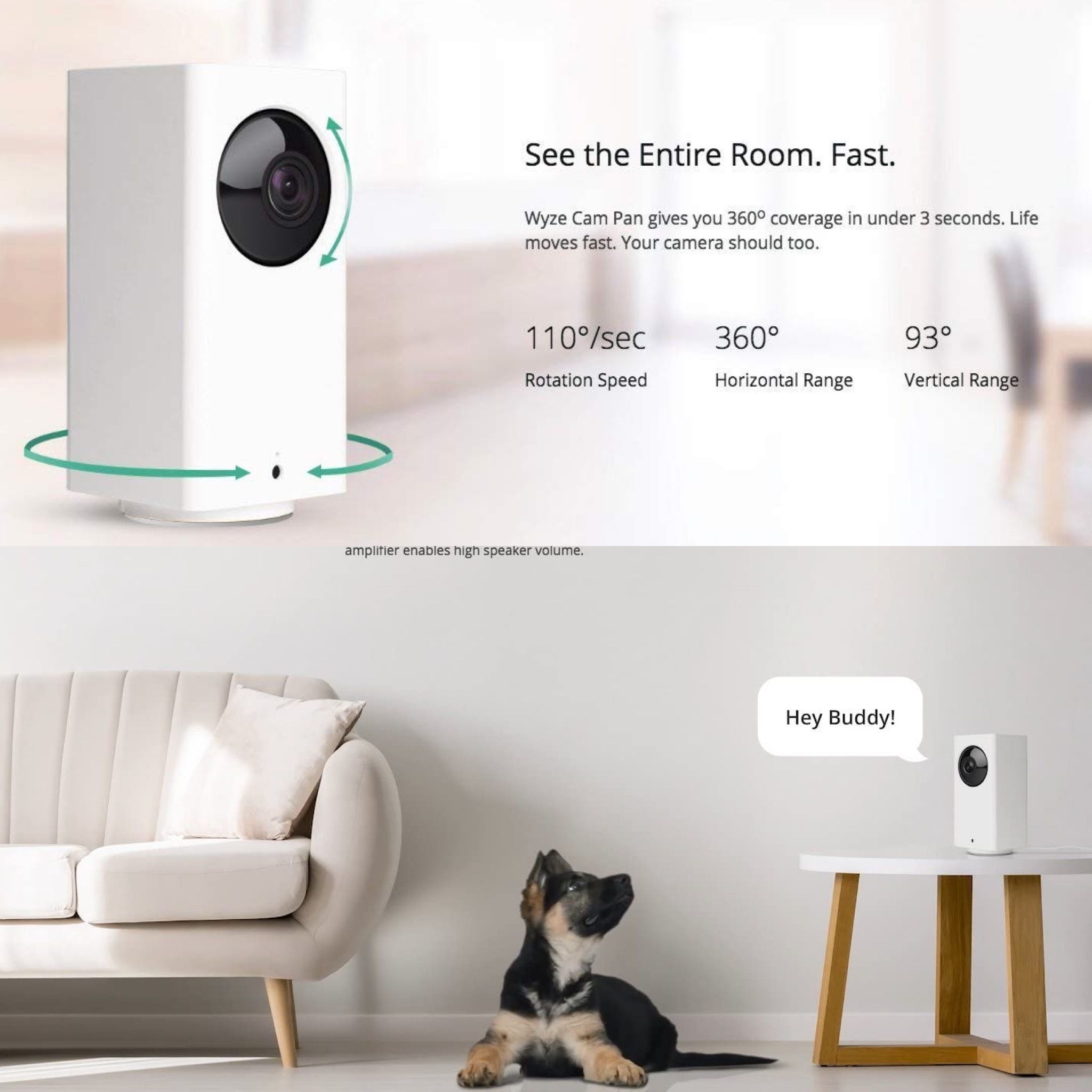 You Will Never Lose Sight Of Your Pet Anymore In 2020 Home Camera Works With Alexa Night Vision