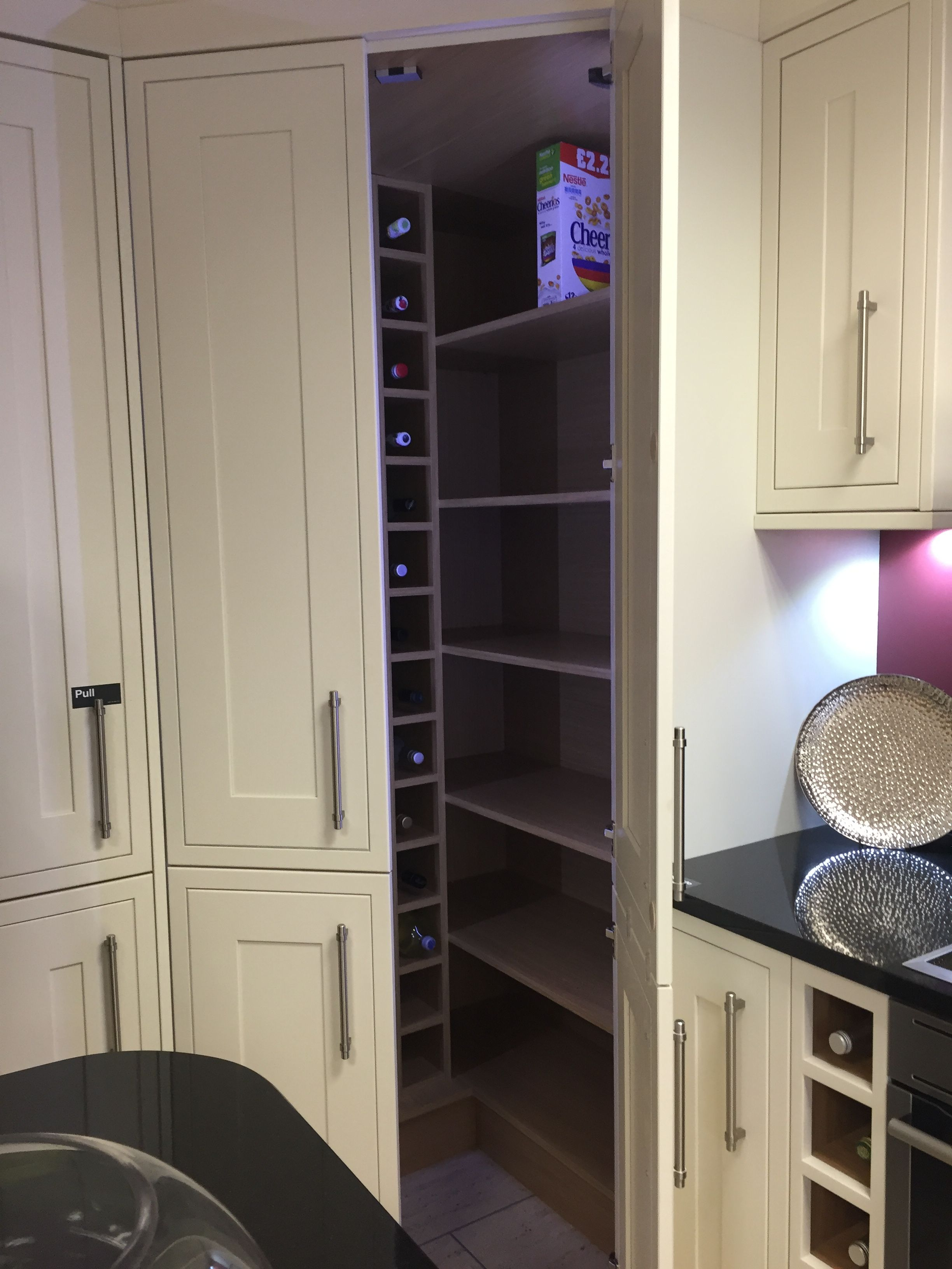 Larder Cupboard Shaker Bone Wickes Wickes Kitchens Interior Design Kitchen Contemporary Kitchen Dining Living