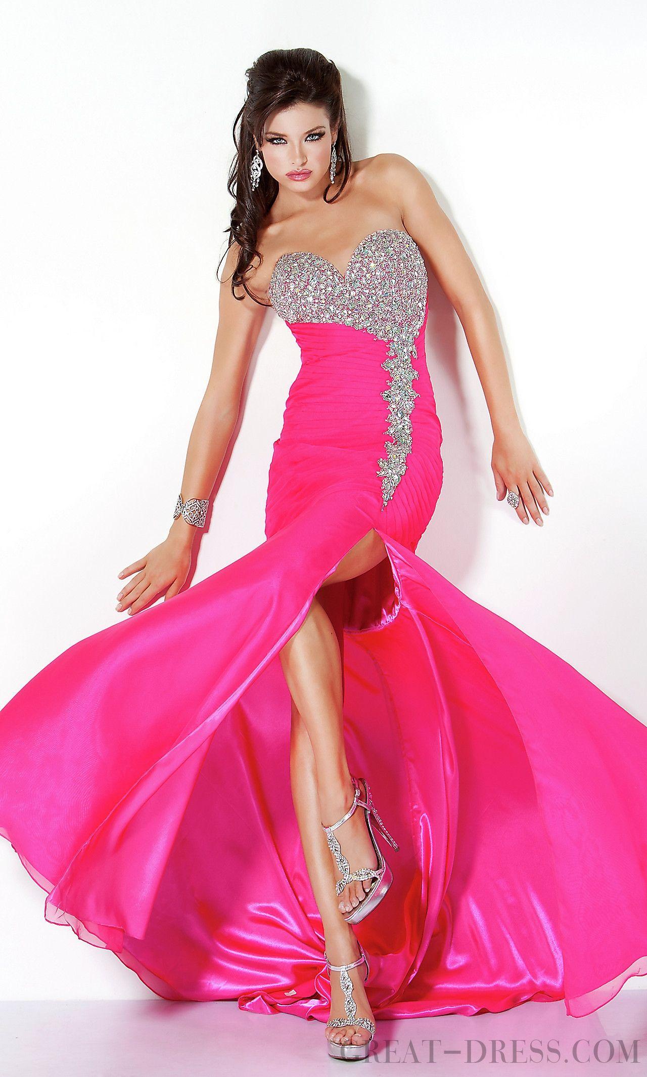Stunning Sweetheart Sheath / Column Chiffon Evening Dresses ...