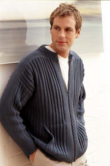 Free Knitting Pattern Mans Zip Up Jacket In Rowan All Seasons