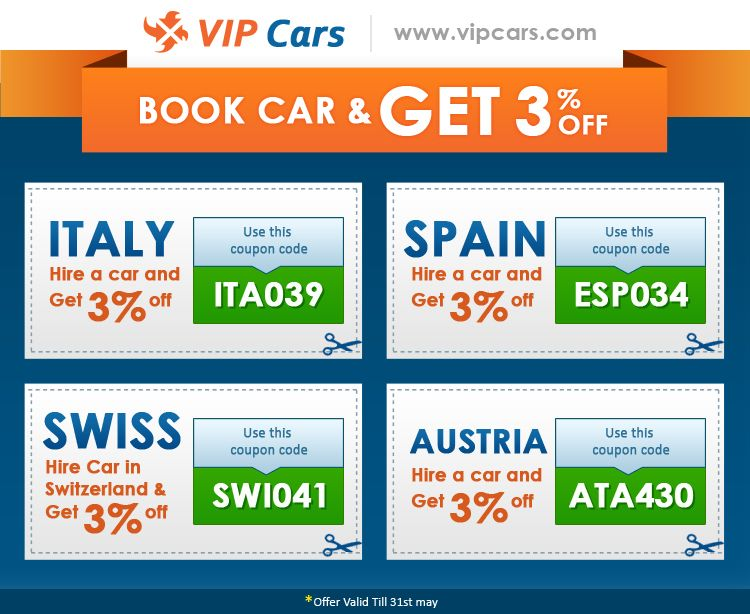 Car Rental Discount Codes for Italy,Spain,Switzerland