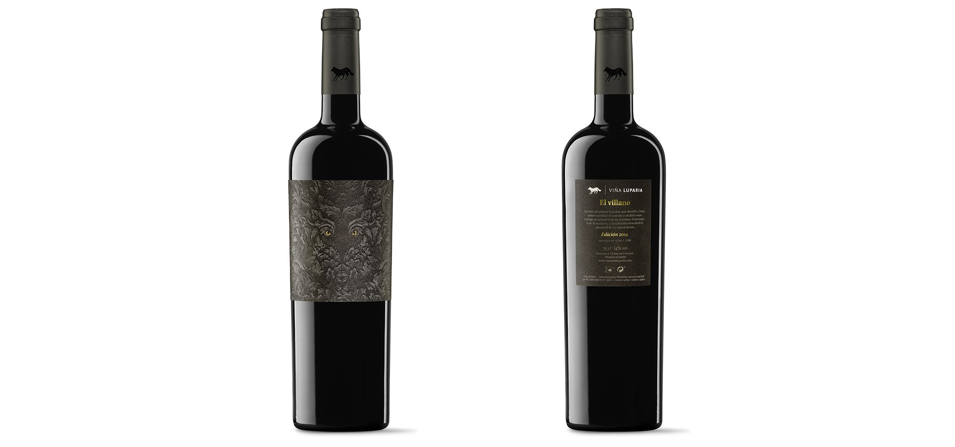 El villano. A label design and a packaging for the most exclusive wine of Manada Luparia | TSMGO Brand Consultants