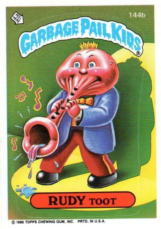 Stinky Scotty Garbage Pail Kids Rudy Toot Garbage Pail Kids Garbage Pail Kids Cards Pail