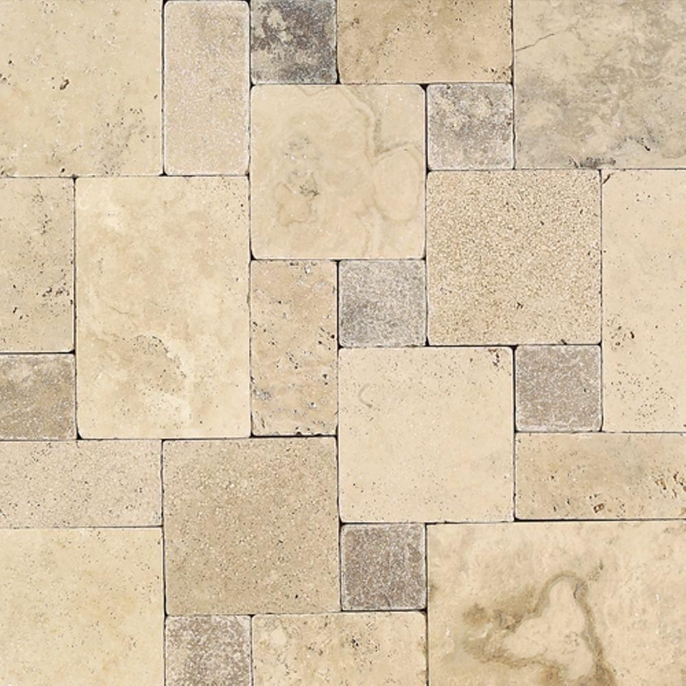 Daltile Travertine Peruvian Cream Paredon Pattern Natural