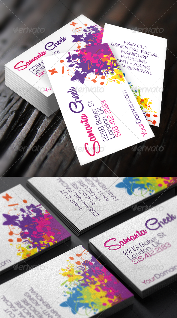 Colorful life elegant business card pinterest elegant business colorful life elegant business card photoshop psd easy to use beauty available here reheart Images