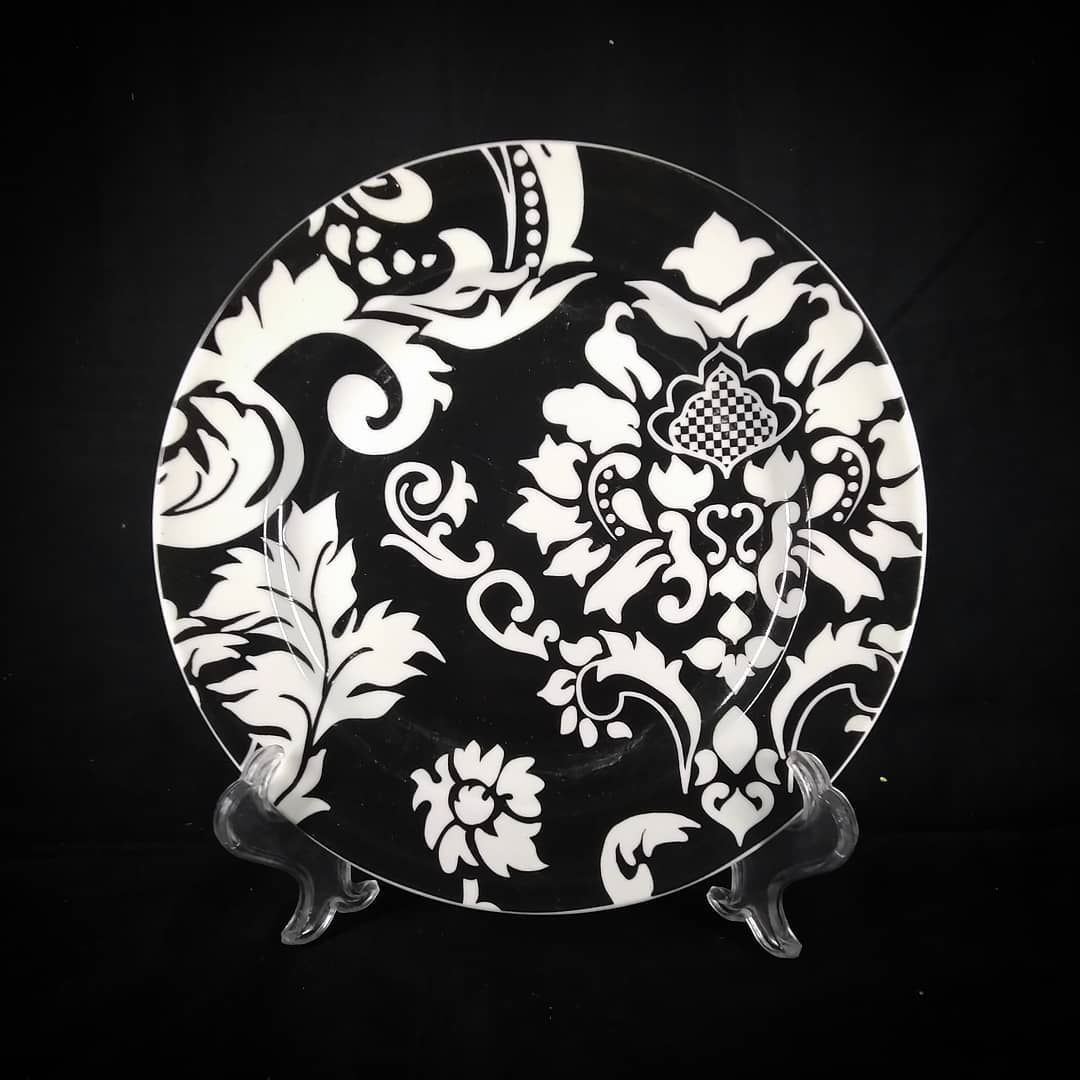 Damask Piring Makan Keramik Produksi Pt Sango Indonesia Fine Ceramic Material Microwave Dishwasher Safe Salad Plate Di Home Decor Decorative Plates Tableware