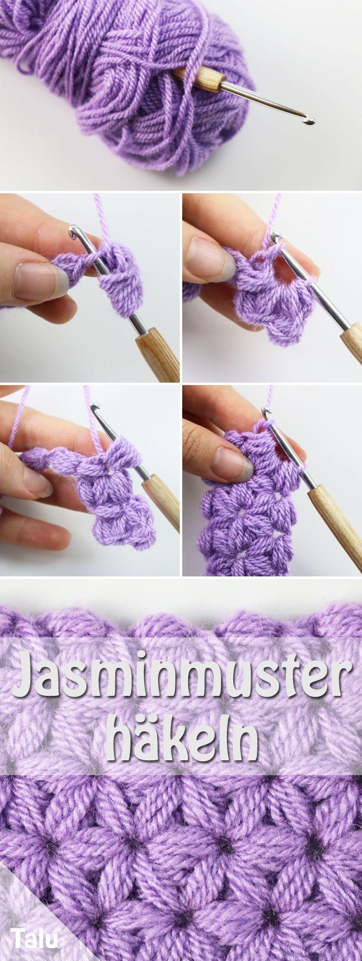 Crochet motif jasmin – instructions simples pour le motif étoile – Talu.de   – Crochet me!